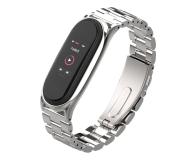 Tech-Protect Bransoleta Stainless do Xiaomi Mi Band 5/6 silver - 605434 - zdjęcie 1