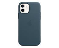 Apple Skórzane etui iPhone 12|12Pro bałtycki błękit - 607219 - zdjęcie 2