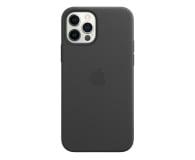 Apple Skórzane etui iPhone 12|12Pro czarne - 607221 - zdjęcie 1