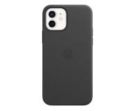 Apple Skórzane etui iPhone 12 12Pro czarne - 607221 - zdjęcie 2