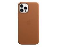 Apple Skórzane etui iPhone 12|12Pro naturalny brąz - 607220 - zdjęcie 1