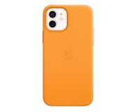 Apple Skórzane etui iPhone 12|12Pro kalifornijski mak - 607216 - zdjęcie 2