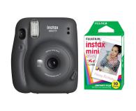 Fujifilm Instax Mini 11 szary + wkłady (10 zdjęć) - 606745 - zdjęcie 1