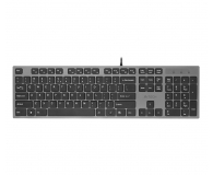 A4Tech KV-300H Slim szaro-czarna USB - 58539 - zdjęcie 1
