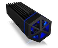 ICY BOX USB-C do M.2 NVMe (10 Gbps, Aluminium, RGB) - 601762 - zdjęcie 2