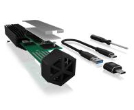 ICY BOX USB-C do M.2 NVMe (10 Gbps, Aluminium, RGB) - 601762 - zdjęcie 5