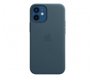 Apple Skórzane etui iPhone 12 mini bałtycki błękit - 604808 - zdjęcie 1