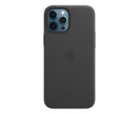 Apple Skórzane etui iPhone 12 Pro Max czarne - 604817 - zdjęcie 1