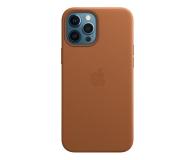 Apple Skórzane etui iPhone 12 Pro Max naturalny brąz - 604819 - zdjęcie 1