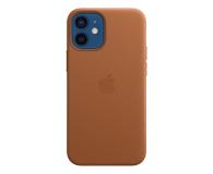 Apple Skórzane etui iPhone 12 mini naturalny brąz - 604812 - zdjęcie 1