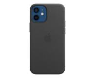 Apple Skórzane etui iPhone 12 mini czarne - 604809 - zdjęcie 1