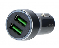 Silver Monkey Ładowarka samochodowa 2x USB, 3A, QC 3.0 - 487141 - zdjęcie 1