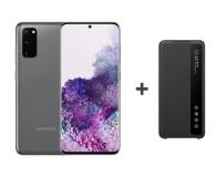 Samsung Galaxy S20 G980F Dual SIM Grey + Clear View Cover - 544322 - zdjęcie 1