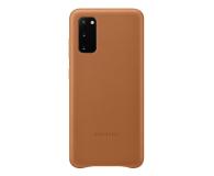 Samsung Leather Cover do Galaxy S20 Brown  - 544140 - zdjęcie 1