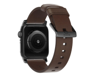 Nomad Pasek Skórzany do Apple Watch brązowo-czarny - 540749 - zdjęcie 2