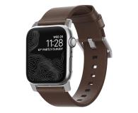 Nomad Pasek Skórzany do Apple Watch brązowo-srebrny - 540750 - zdjęcie 1