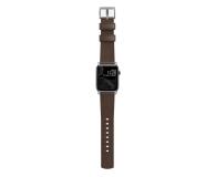 Nomad Pasek Skórzany do Apple Watch brązowo-srebrny - 540750 - zdjęcie 4