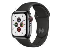 Apple Watch 5 40/Space Gray Steel/Black Sport LTE - 547092 - zdjęcie 1