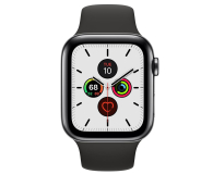 Apple Watch 5 44/Space Grey Steel/Black Sport LTE - 543271 - zdjęcie 2