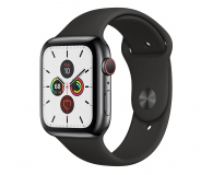 Apple Watch 5 44/Space Grey Steel/Black Sport LTE - 543271 - zdjęcie 1