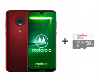 Motorola Moto G7 Plus 4/64GB DS czerwony + etui + 64GB - 488349 - zdjęcie 1