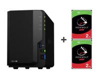 Synology DS218+ 4TB (2xHDD, 2x2-2.5GHz, 2GB, 3xUSB, 1xLAN)  - 463377 - zdjęcie 1