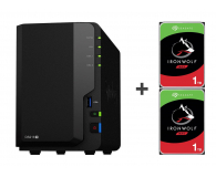 Synology DS218+ 2TB (2xHDD, 2x2-2.5GHz, 2GB, 3xUSB, 1xLAN)  - 483564 - zdjęcie 1
