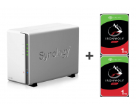 Synology DS218j 2TB (2xHDD, 2x1.3GHz, 512MB,2xUSB,1xLAN) - 421692 - zdjęcie 1