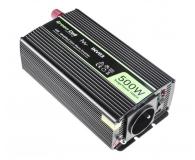 Green Cell Przetwornica napięcia 12V na 230V 500W/1000W - 548209 - zdjęcie 1