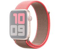 Apple Opaska Sportowa do Apple Watch neonowy róż  - 553804 - zdjęcie 1