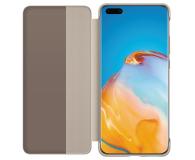 Huawei Smart View Flip Cover do Huawei P40 Pro khaki - 559401 - zdjęcie 2