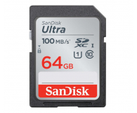 SanDisk 64GB SDXC Ultra Class10 100MB/s UHS-I - 559692 - zdjęcie 1