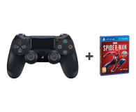 Sony PlayStation 4 DualShock 4 Black V2 + Spider-Man