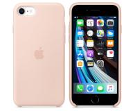 Apple Silicone Case do iPhone 7/8/SE piaskowy róż - 567455 - zdjęcie 2