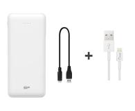 Silicon Power Power Bank 20000mAh (micro USB, Lightning, biały) - 571981 - zdjęcie 1