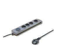 Qoltec Quick Switch - 4 gniazda 1,5m - 462003 - zdjęcie 1