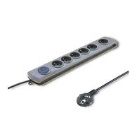 Qoltec Quick Switch - 6 gniazd, 3m - 462010 - zdjęcie 1