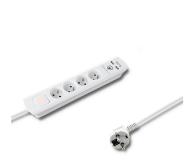 Qoltec Quick Switch - 4 gniazda, 2x USB, 1.4m - 472613 - zdjęcie 1