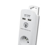 Qoltec Quick Switch - 4 gniazda, 2x USB, 1.4m - 472613 - zdjęcie 3