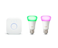 Philips Hue White and Color Ambiance (2szt. E27+Mostek) - 567503 - zdjęcie 1