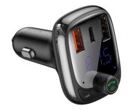 Baseus Transmiter FM (Bluetooth 5.0, Quick Charge 4.0) - 580222 - zdjęcie 1