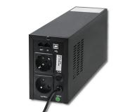 Qoltec Monolith (600VA/300W, 2xFR, USB, LCD, AVR) - 387643 - zdjęcie 2