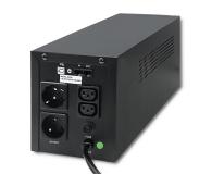 Qoltec Monolith (1200VA/720W, 2xFR, AVR, USB, LCD) - 387652 - zdjęcie 2