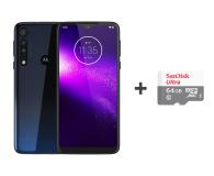 Motorola One Macro 4/64GB DS IPX2 Space Blue +etui +64GB - 530647 - zdjęcie 1