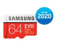 Samsung 64GB microSDXC Evo Plus zapis20MB/s odczyt100MB/s - 577324 - zdjęcie 1