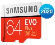 Samsung 64GB microSDXC Evo Plus zapis20MB/s odczyt100MB/s - 577324 - zdjęcie 3
