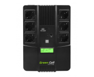 Green Cell UPS AiO (800VA/480W, 6x Schuko, AVR, LCD) - 546081 - zdjęcie 3