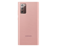 Samsung Clear view cover do Galaxy Note 20 Copper Brown - 582453 - zdjęcie 2