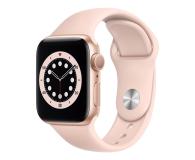 Apple Watch 6 40/Gold Aluminium/Pink Sport GPS - 592187 - zdjęcie 1