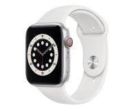 Apple Watch 6 44/Silver Aluminium/White Sport LTE - 592208 - zdjęcie 1